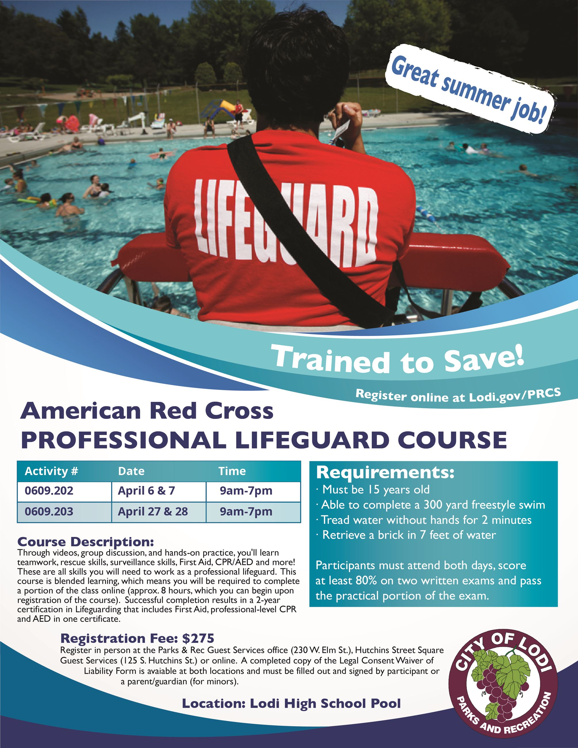 Lifeguard Course Flyer
