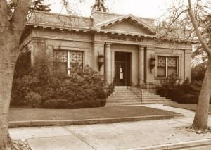 Historical photo of the Lodi Library
