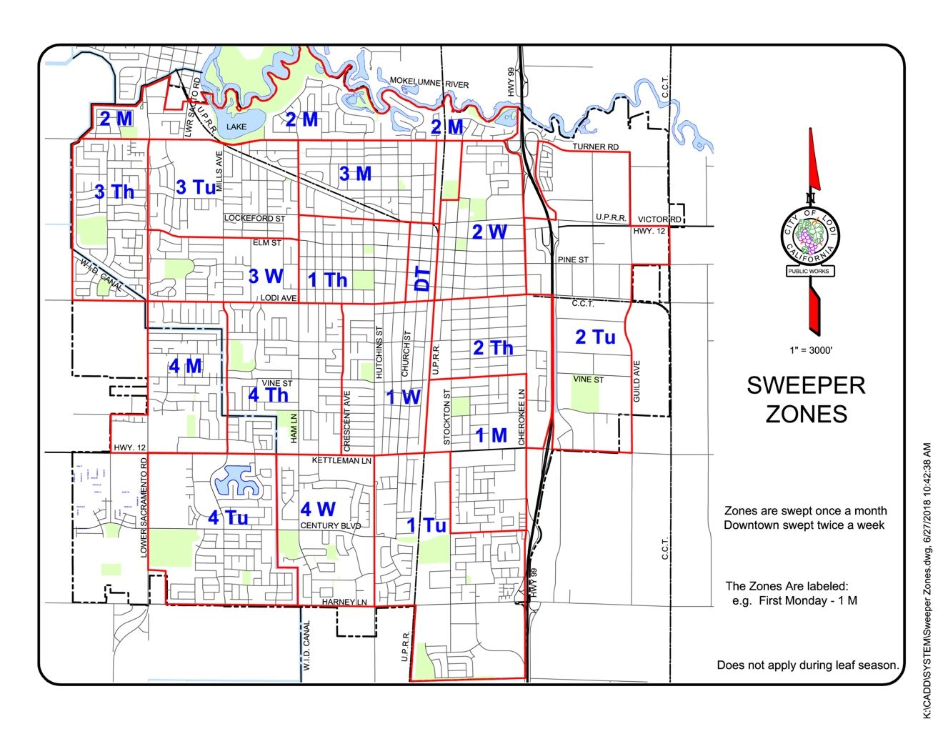 Sweeper Schedule Zones