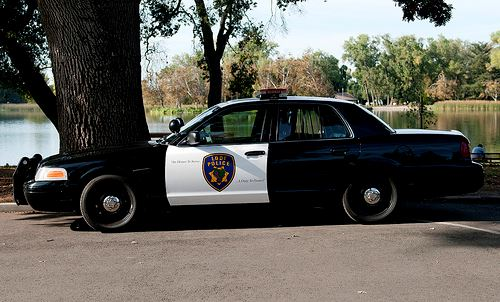 Black and white Lodi Police vehicle